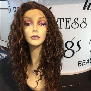 Accessories - Wig Fulllace Fullcap human hair Blende  Long Curly